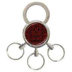 Skin2 Black Marble & Reddish Brown Wood 3 Ring Key Chains by trendistuff