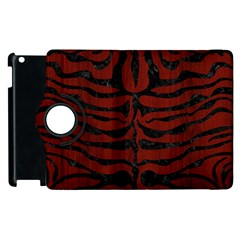 Skin2 Black Marble & Reddish Brown Wood Apple Ipad 3/4 Flip 360 Case by trendistuff
