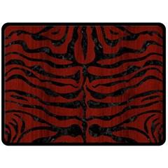 Skin2 Black Marble & Reddish Brown Wood Double Sided Fleece Blanket (large)  by trendistuff