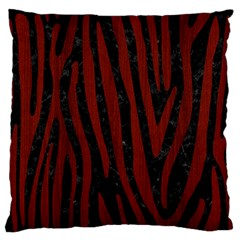 Skin4 Black Marble & Reddish Brown Wood Large Flano Cushion Case (two Sides) by trendistuff