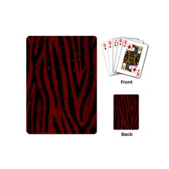 Skin4 Black Marble & Reddish Brown Wood (r) Playing Cards (mini)  by trendistuff