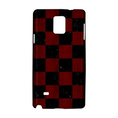 Square1 Black Marble & Reddish Brown Wood Samsung Galaxy Note 4 Hardshell Case by trendistuff