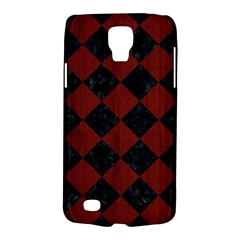 Square2 Black Marble & Reddish Brown Wood Galaxy S4 Active by trendistuff