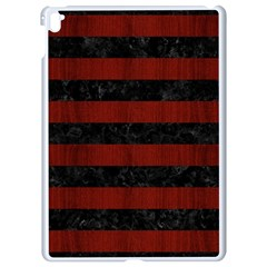 Stripes2 Black Marble & Reddish Brown Wood Apple Ipad Pro 9 7   White Seamless Case