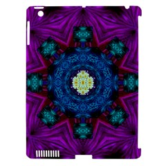 Sunshine Mandala And Fantasy Snow Floral Apple Ipad 3/4 Hardshell Case (compatible With Smart Cover) by pepitasart