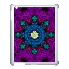 Sunshine Mandala And Fantasy Snow Floral Apple Ipad 3/4 Case (white) by pepitasart