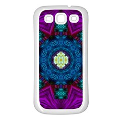 Sunshine Mandala And Fantasy Snow Floral Samsung Galaxy S3 Back Case (white) by pepitasart