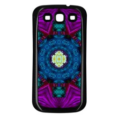 Sunshine Mandala And Fantasy Snow Floral Samsung Galaxy S3 Back Case (black) by pepitasart