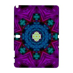 Sunshine Mandala And Fantasy Snow Floral Galaxy Note 1 by pepitasart