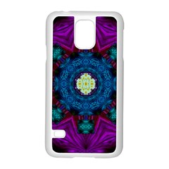 Sunshine Mandala And Fantasy Snow Floral Samsung Galaxy S5 Case (white) by pepitasart
