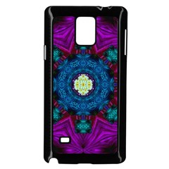 Sunshine Mandala And Fantasy Snow Floral Samsung Galaxy Note 4 Case (black) by pepitasart