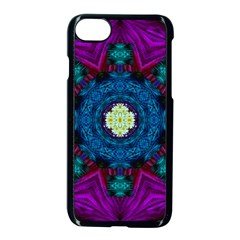 Sunshine Mandala And Fantasy Snow Floral Apple Iphone 7 Seamless Case (black) by pepitasart