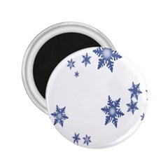 Star Snow Blue Rain Cool 2 25  Magnets by AnjaniArt