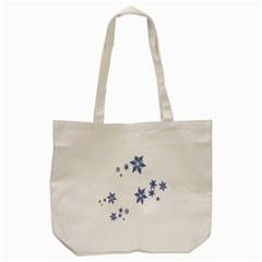 Star Snow Blue Rain Cool Tote Bag (cream) by AnjaniArt