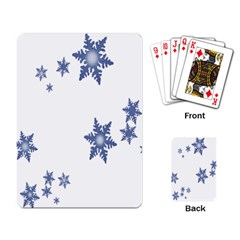 Star Snow Blue Rain Cool Playing Card by AnjaniArt