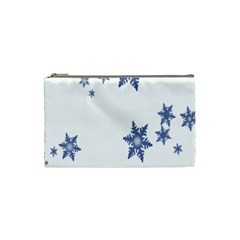 Star Snow Blue Rain Cool Cosmetic Bag (small)  by AnjaniArt