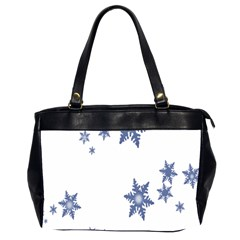 Star Snow Blue Rain Cool Office Handbags (2 Sides)  by AnjaniArt