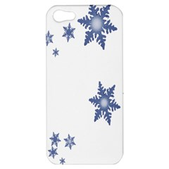 Star Snow Blue Rain Cool Apple Iphone 5 Hardshell Case by AnjaniArt