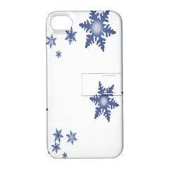 Star Snow Blue Rain Cool Apple Iphone 4/4s Hardshell Case With Stand by AnjaniArt