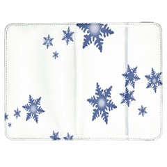 Star Snow Blue Rain Cool Samsung Galaxy Tab 7  P1000 Flip Case by AnjaniArt