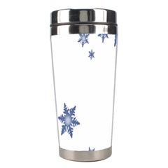 Star Snow Blue Rain Cool Stainless Steel Travel Tumblers by AnjaniArt