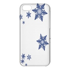 Star Snow Blue Rain Cool Apple Iphone 5c Hardshell Case by AnjaniArt