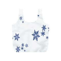 Star Snow Blue Rain Cool Full Print Recycle Bags (s)  by AnjaniArt