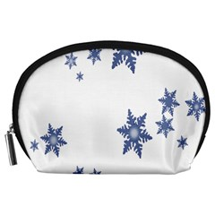 Star Snow Blue Rain Cool Accessory Pouches (large)