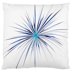 Fireworks Light Blue Space Happy New Year Large Cushion Case (two Sides) by AnjaniArt