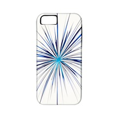 Fireworks Light Blue Space Happy New Year Apple Iphone 5 Classic Hardshell Case (pc+silicone) by AnjaniArt