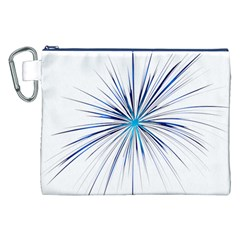 Fireworks Light Blue Space Happy New Year Canvas Cosmetic Bag (xxl) by AnjaniArt