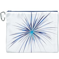 Fireworks Light Blue Space Happy New Year Canvas Cosmetic Bag (xxxl) by AnjaniArt