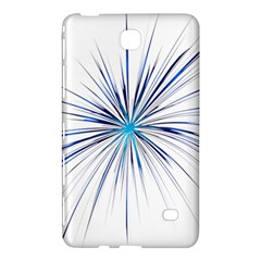 Fireworks Light Blue Space Happy New Year Samsung Galaxy Tab 4 (8 ) Hardshell Case  by AnjaniArt