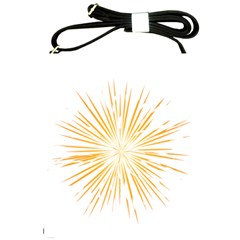 Fireworks Light Yellow Space Happy New Year Shoulder Sling Bags by AnjaniArt