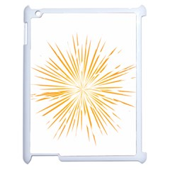 Fireworks Light Yellow Space Happy New Year Apple Ipad 2 Case (white) by AnjaniArt