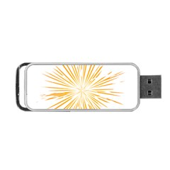 Fireworks Light Yellow Space Happy New Year Portable Usb Flash (two Sides) by AnjaniArt