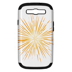 Fireworks Light Yellow Space Happy New Year Samsung Galaxy S Iii Hardshell Case (pc+silicone) by AnjaniArt