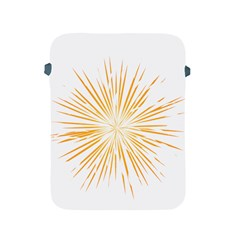 Fireworks Light Yellow Space Happy New Year Apple Ipad 2/3/4 Protective Soft Cases by AnjaniArt
