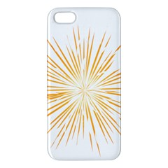 Fireworks Light Yellow Space Happy New Year Iphone 5s/ Se Premium Hardshell Case by AnjaniArt