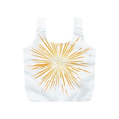 Fireworks Light Yellow Space Happy New Year Full Print Recycle Bags (s)  by AnjaniArt