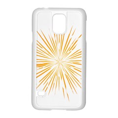 Fireworks Light Yellow Space Happy New Year Samsung Galaxy S5 Case (white) by AnjaniArt