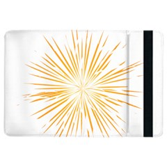 Fireworks Light Yellow Space Happy New Year Ipad Air 2 Flip by AnjaniArt