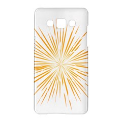 Fireworks Light Yellow Space Happy New Year Samsung Galaxy A5 Hardshell Case  by AnjaniArt