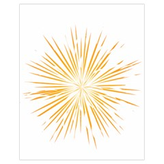 Fireworks Light Yellow Space Happy New Year Drawstring Bag (small) by AnjaniArt