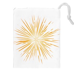 Fireworks Light Yellow Space Happy New Year Drawstring Pouches (xxl) by AnjaniArt