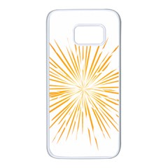 Fireworks Light Yellow Space Happy New Year Samsung Galaxy S7 White Seamless Case by AnjaniArt