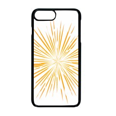 Fireworks Light Yellow Space Happy New Year Apple Iphone 7 Plus Seamless Case (black) by AnjaniArt