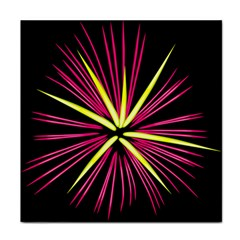 Fireworks Pink Red Yellow Black Sky Happy New Year Face Towel by AnjaniArt