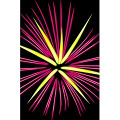 Fireworks Pink Red Yellow Black Sky Happy New Year 5 5  X 8 5  Notebooks by AnjaniArt