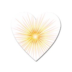 Fireworks Light Yellow Space Happy New Year Red Heart Magnet by AnjaniArt